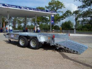 Hire Plant trailer via John Page Trailers in Kent