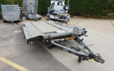 NOW SOLD! Used Ifor Williams CT177 car transporter 3500kg gross weight
