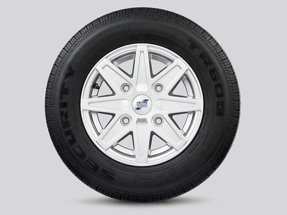 Alloy Wheels - 8 Spoke Silver
