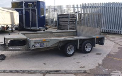 Used Ifor Williams GX105HD plant trailer